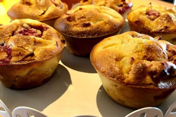 Recette Muffin pomme framboise