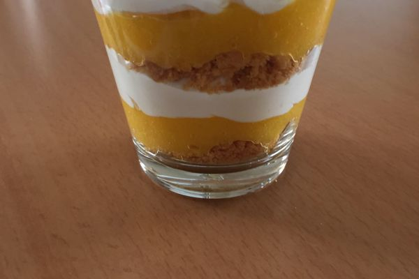 Verrine chantilly mascarpone fruit