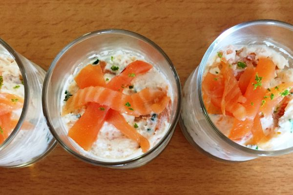 Recette Verrine saumon mascarpone