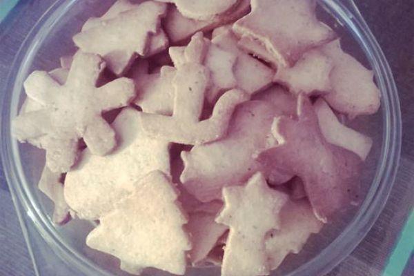 Biscuits sablés aux noisettes.