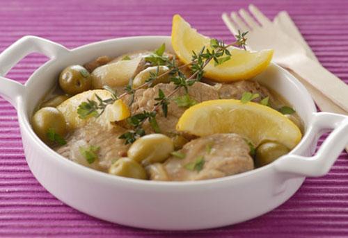 Recette  saute de veau aux olives