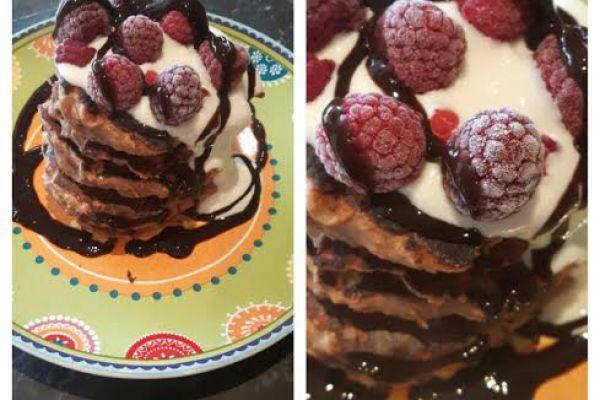 Pancakes protéinés légers au chocolat