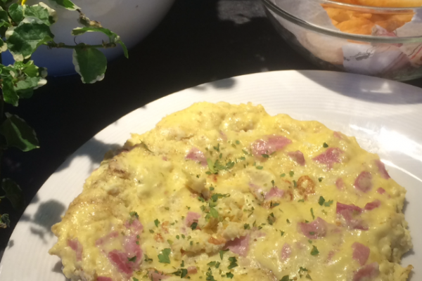 Recette Omelette jambon fromage