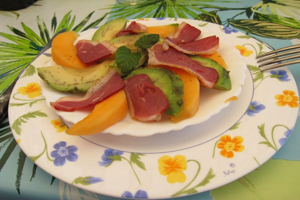 Recette Assiette de melon à la charentaise
