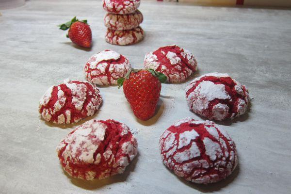Recette Crinkles à la fraise
