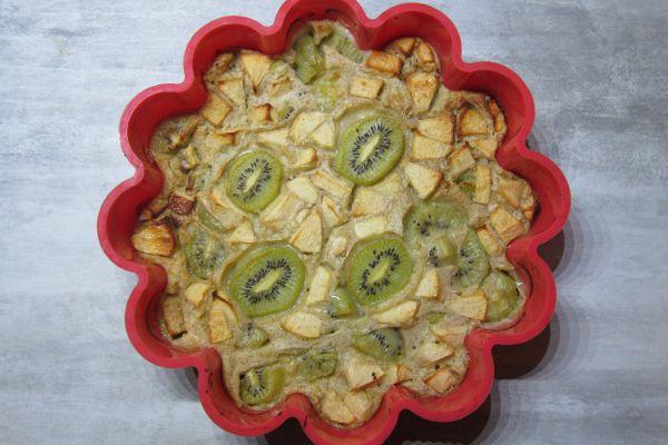 Clafoutis pomme kiwi