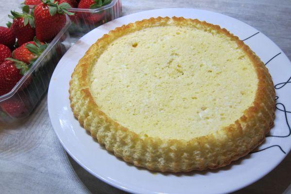 Génoise pour fonds de tartes aux fruits