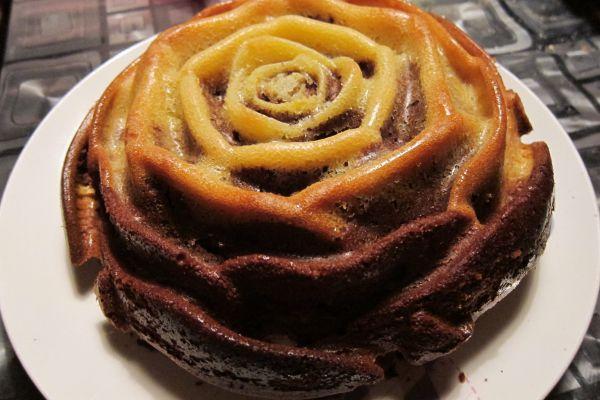 Gâteau marbré chocolat/orange