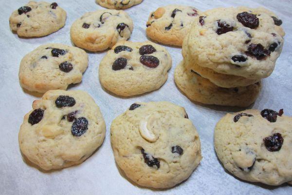 Cookies noix cajou et cranberries