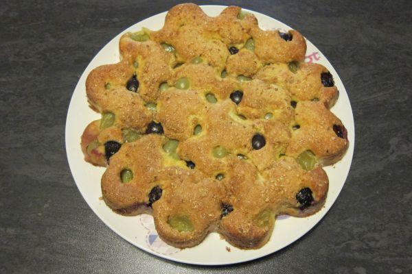 Recette Gâteau moelleux aux raisins frais