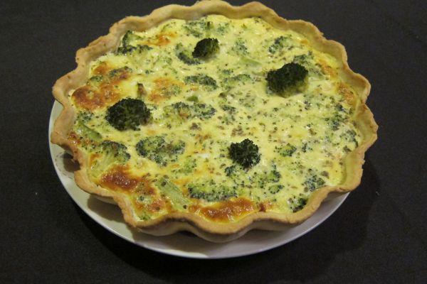 Quiche saumon brocolis