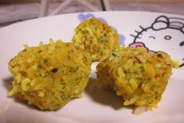Boulettes de riz et poisson