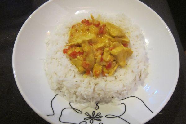Poulet sauce curry