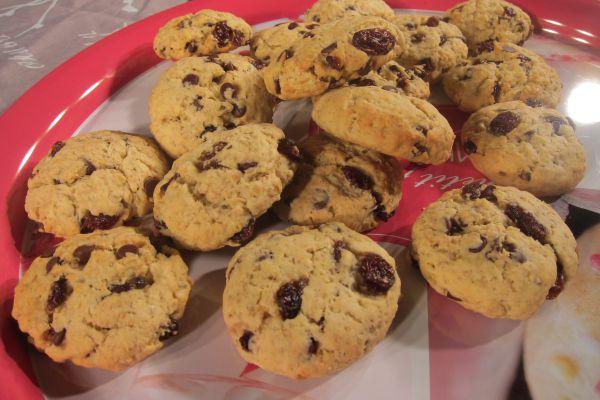 Recette Cookies raisins sec, chocolat et avoine