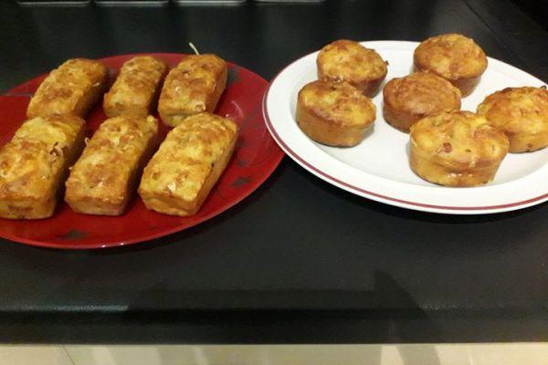 Recette Minis cakes courgettes chèvre bacon