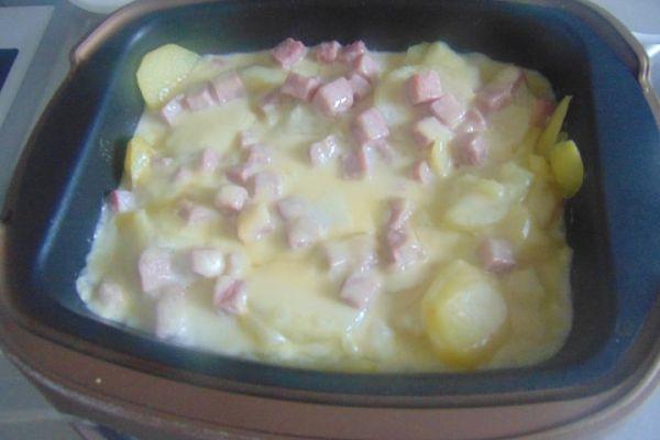 Recette PDT jambon au fromage à raclette