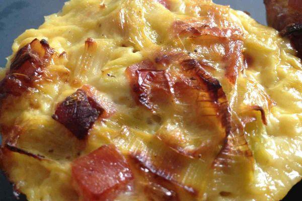 Recette Flan poireaux bacon