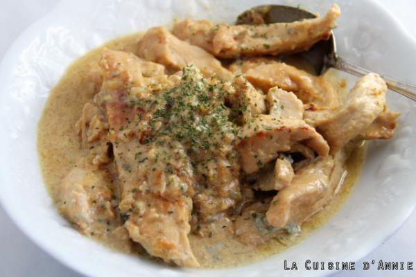 Recette Recette Escalopes de poulet au Roquefort