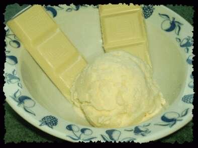 Recette Glace au chocolat blanc