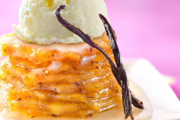 Recette Ananas roti à la vanille