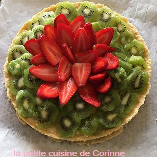 Recette Tarte aux fraises et kiwis