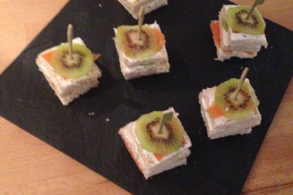 Toasts saumon kiwi