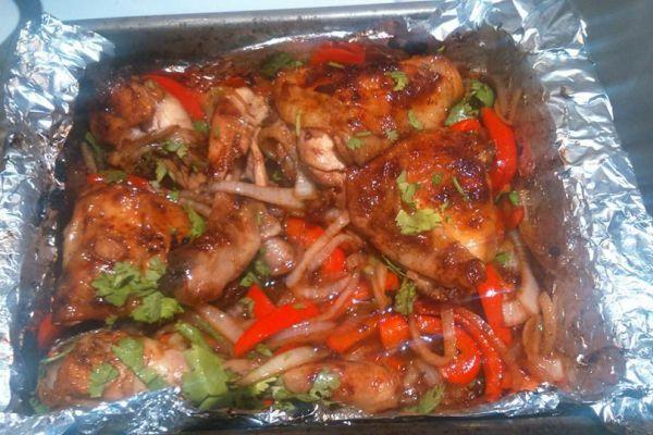 cuisses de poulet à l'aigre doux