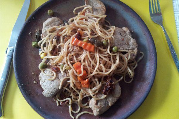 Recette Nouilles chinoises, sautées sauce soja