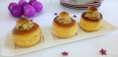 Recette BouchÉes feuilletÉes au boudin blanc et champignons