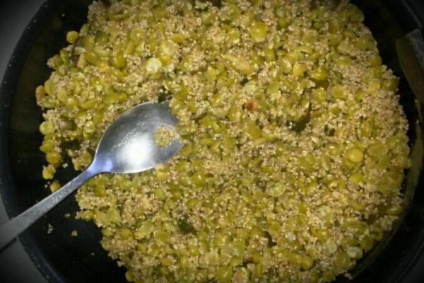 Recette poêlée pois cassés quinoa