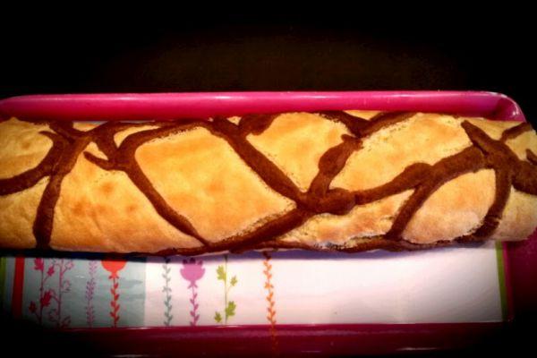 Recette Roulé girafe à la crème de marrons