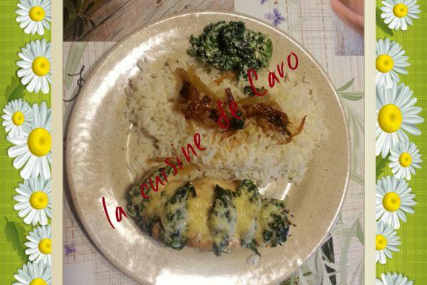 Recette Escalope poulet ricotta Epinard
