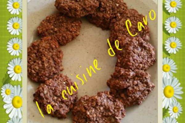 Recette Cookies aux flocons d'avoine cacao