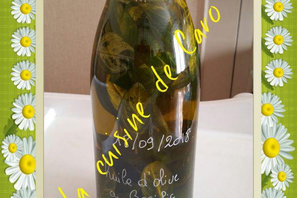 Recette huile d'olive au basilic