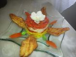 Recette Filets de Sole et son trio : riz, poivrons rouges et fondue de t