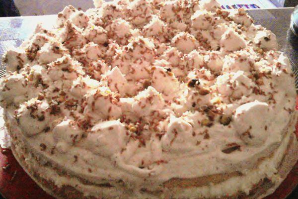 Recette Gâteau mousse au chocolat blanc et sa chantilly praliné