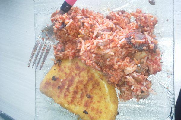 Recette cordons bleu de dinde et riz à la tomate et champignons