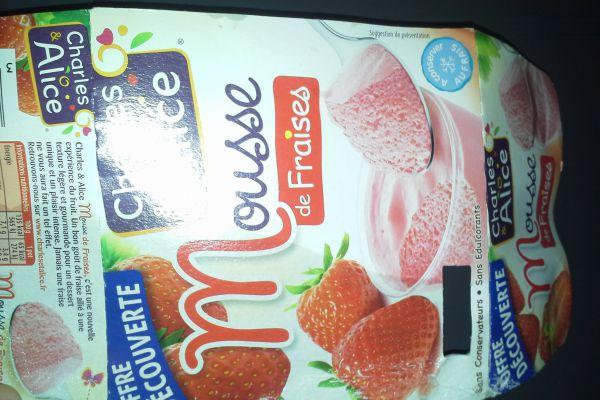 mousse de fraise