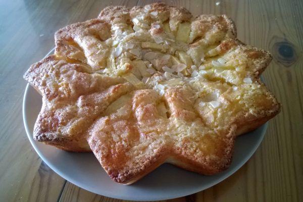 Recette gâteau aux pommes,frangipane