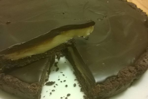 Recette tarte chocolat et caramel beurre salé