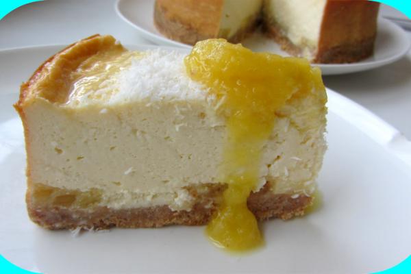 Recette Cheesecake ananas /noix de coco et coulis d'ananas