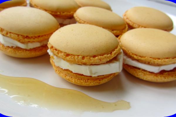 Recette Macarons salés chèvre/miel