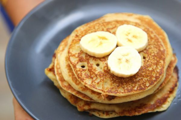 Recette Pancakes à la banane et au rhum