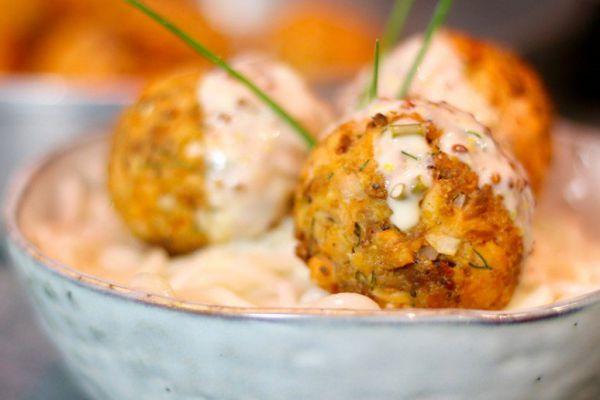 Recette Petites boulettes de saumon sauce au citron