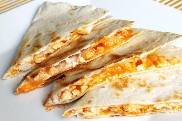 Recette Quesadillas au poulet et cheddar