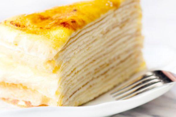Gâteau de crêpes à la vanille