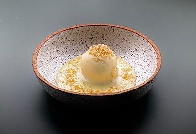 Dulce de leche, glace vanille, coco de Cyril Lignac