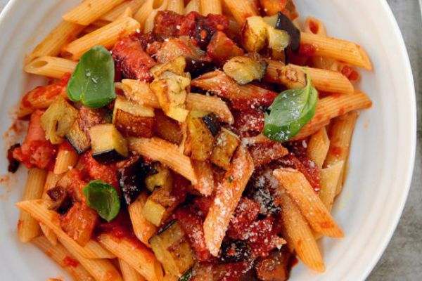 Penne aux aubergines