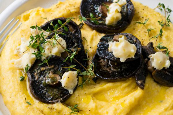 Recette polenta au gorgonzola et champignons