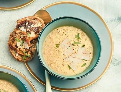 Recette Velouté de champignon, parmesan et truffe